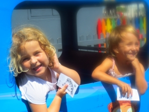 What could be more fun on your 5th birthday than a ride on the blue train