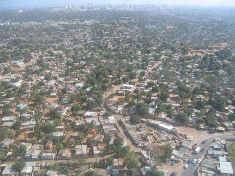The sprawl that is Maputo, with downtown visible on the skyline